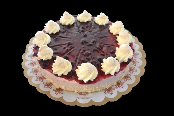 Bosvruchtenbavarois taart (12 pers)