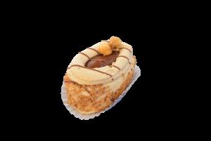 Hazelnootcreme schuimgebakje met caramel