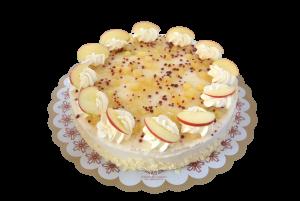 Appelkaneelbavarois taart (12 pers)