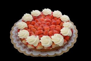 Aardbeienvlaai met slagroom (12 personen)