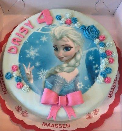 Frozen foto/fondant taart