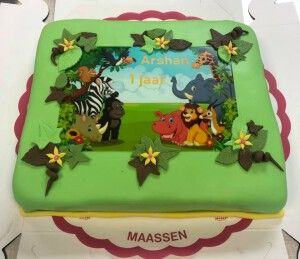 Fondant/Fototaart thema Jungle